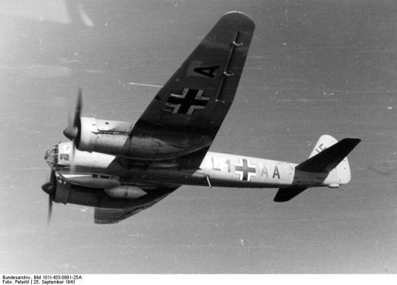 Ju88-A4 Trop L1+AA of the Wing Commander Major Knust on the return flight to Greece from North Africa, September 1941.