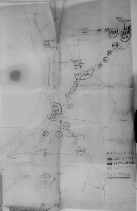 Results of three aerial recce missions of the Axis, 11 Jan 1942