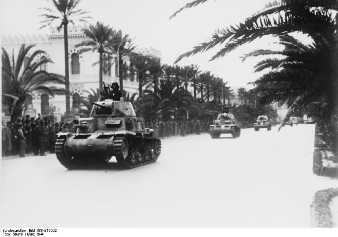 Nordafrika, Truppenparade in Tripolis