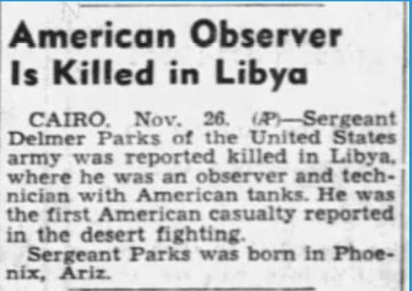 The first US Army Soldier to die in Ground Combat inWW2?