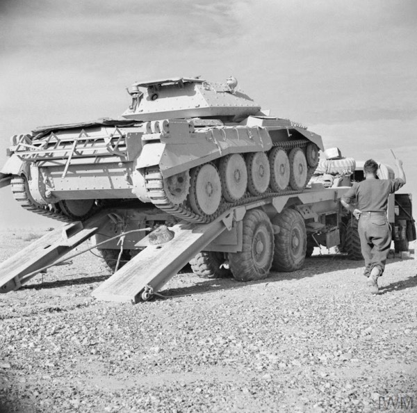 Mechanical Issues of British/US Tanks during CRUSADER