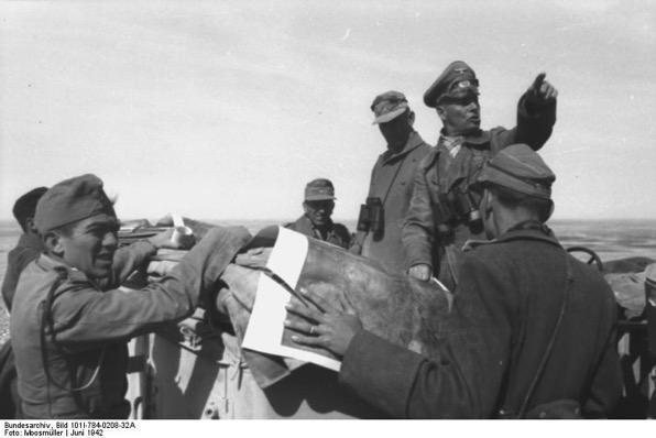 Bundesarchiv Bild 101I 784 0208 32A Nordafrika Erwin Rommel Alfred Gause Erwin Menny