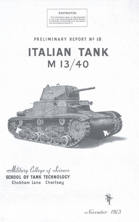 School of Tank Technology Reports on Italian Tanks