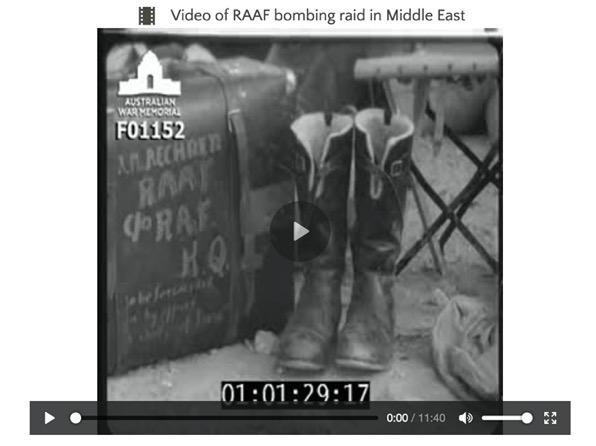 Movie Friday – AWM Movie on RAF/RAAF sorties in Libya in January 1942