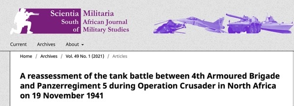 Article on 19 November 1941 battlepublished